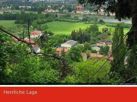AREAS: Grandiose Aussicht! Exklusives Baugrundstück in Hosterwitz mit Panoramablick über die Elbe
