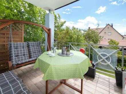 Pfiffige Maisonette-Wohnung mit schönem Blick ins Grüne!