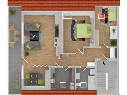 Gemütliche 2-, bzw. 3-Zimmer Dachgeschosswohnung in ruhiger Lage