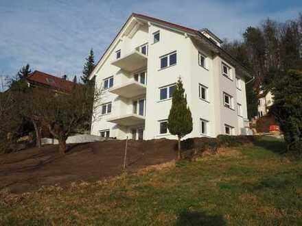 Erstbezug, exklusive, barrierefreie 4-Zimmer-EG-Wohnung mit Balkon im Grünen