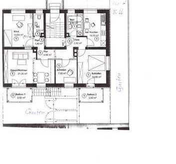Exklusive 4-Zimmer-Wohnung mit Balkon in Augsburg - Lechhausen