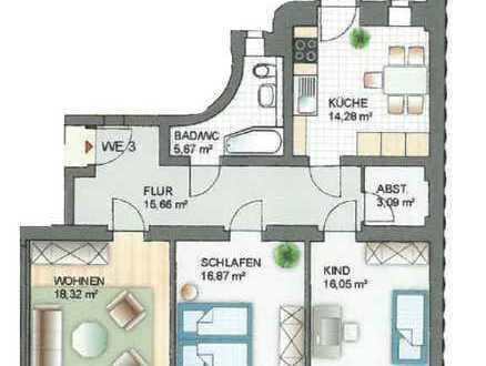 Sanierte 3-Raum-Wohnung mit Balkon