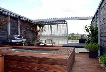 Exklusive Maisonettewohnung mit Dachterrasse im Rheinauhafen in Köln