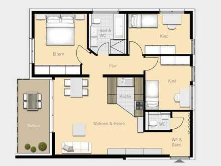 W06 4,5-Zimmer-Wohnung mit Balkon im Obergeschoss