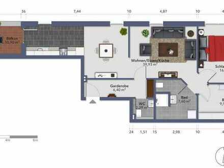 Neue 3 Zimmer Wohnung im OG mit Aufzug