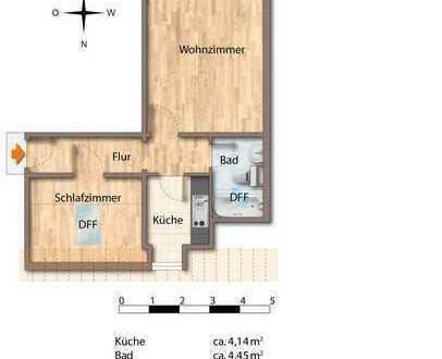 2-Zimmer-Dachgeschosswohnung in München-Hadern nahe Westpark und U-Bahn