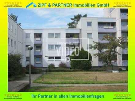 BONN - OBERKASSEL: SCHÖNE 4 ZKB-WOHNUNG, 93 m², 1. OG, SÜD - BALKON, TIEFGARAGEN - PLATZ !