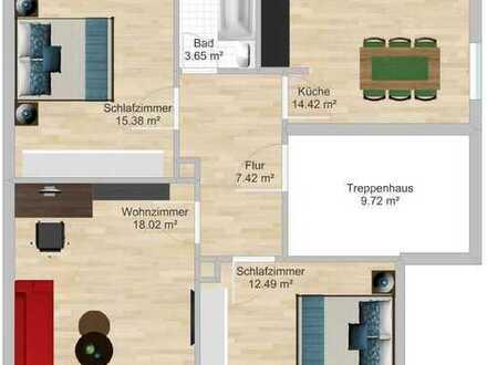 Erstbezug nach Sanierung mit EBK: freundliche 3-Zimmer-Wohnung in Rüsselsheim am Main