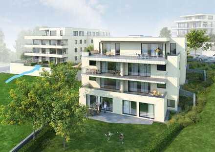 Erstbezug: stilvolle 3-Zimmer-Erdgeschosswohnung mit Einbauküche und Balkon in Rheinfelden (Baden)