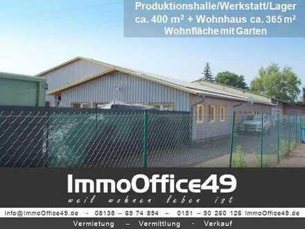 ImmoOffice49 - Gewerbeobjekt mit Einfamilienhaus (Wfl. ca.365 m²) und Garten