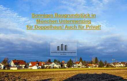 Sonniges Grundstück für Doppelhaus in München Untermenzing. Auch für Privat !