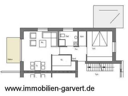 Neubau! Ruhige Lage in Borken! 2-Zimmer-Eigentumswohnung im Obergeschoss mit Balkon