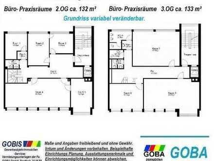 Lu City ab 7/2018 2.+3.OG ca.265 m² Renovierung +Grundriss n. Wunsch Büro-/Praxisräume Bürohaus