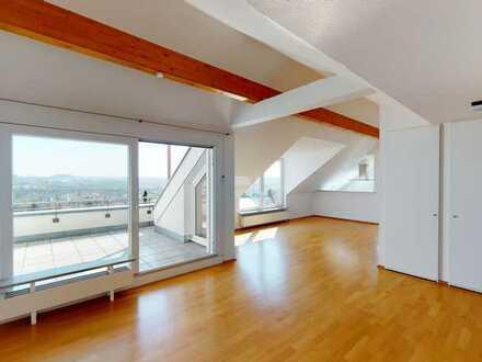 Juwel in Bietigheims bester Lage -  5,5 Zimmer-Atelier-Wohnung mit TOP-Weitblick Richtung Stuttgart