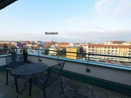 Komfort-2-Zi. Penthouse mit 2 Dachterrassen, Domblick, Blick auf einen See am südlichen Altstadtr...