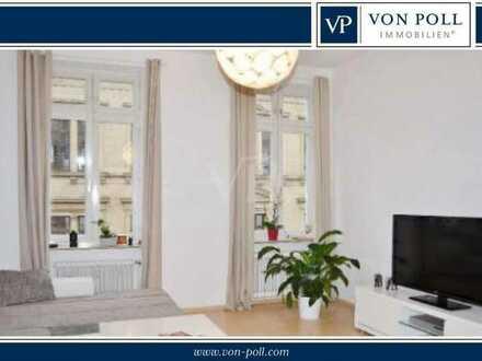 Beste Citylage! 2-Zi-Altbauwohnung mit Balkon u. Stellplatz