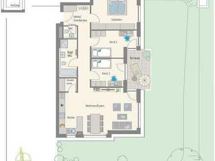 Großzügige 4-Zimmer-Wohnung mit Terrasse und Garten in herrlicher Lage!