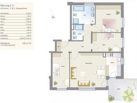 Erstbezug - moderne 4-Raum-Wohnung mit Terrasse