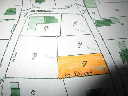 Grundstück nördl. von Bitburg 920 m²