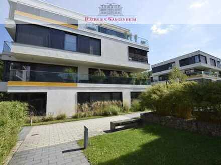 Modernes Wohnen. Direkt am Mühlbach. Exklusive 3-Zimmer-Wohnung mit großem Balkon.