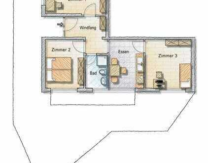 Möblierte Zimmer in Dreier-WG