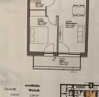 Erstbezug mit Balkon: ansprechende 2-Zimmer-Wohnung in Hoppegarten