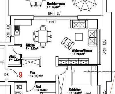++ NEUBAU! Tolle 2 ZKBDachterrasse Penthousewohnung in bevorzugter und ruhiger Wohnlage! ++