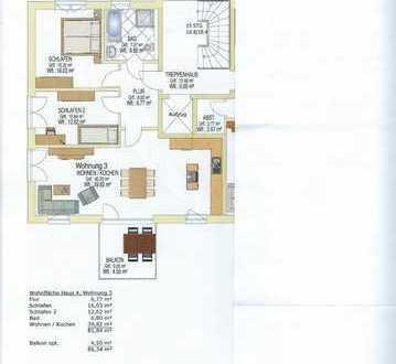Erstbezug mit Balkon: schöne 3-Zimmer-Wohnung in Fuchstal-Leeder