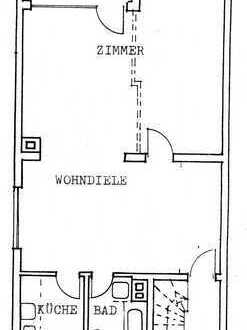 Zwei-Zimmer-Wohnung (geeignet für 1 bis max. 2 Personen-Haushalt)