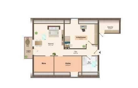 Top gepflegte 3-Zimmer-Dachgeschosswohnung