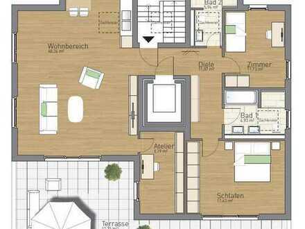 Bad Homburg, Neubau-Penthouse, 130 m² 3,5 Zimmer barrierefrei