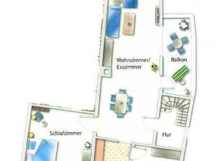 Neuwertige 3-Raum-Wohnung mit Balkon und Einbauküche in Weiler bei Bingen
