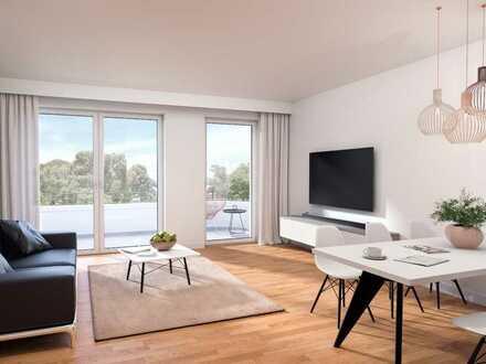 Viel Platz zum Leben! Herrliche 3-Zimmer-Wohnung mit 2 Bädern und ca. 66m² Terrasse in Top-Lage