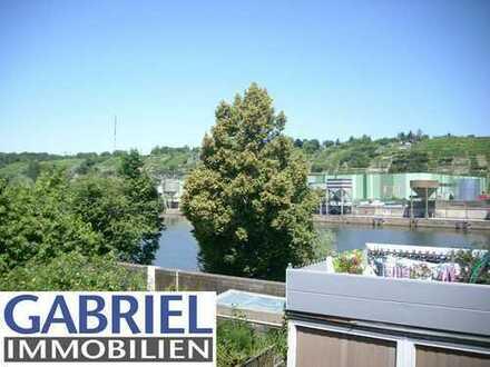 Wohnparadies am Neckar: 3-Zimmer-Wohnung in ruhiger Lage mit Aussicht auf den Fluss