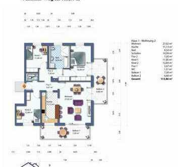 Haus 1 Whg. 2 Erdgeschoss Wohnung