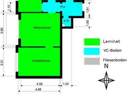 Gepflegte Wohnung mit drei Zimmern und Balkon in Meitingen