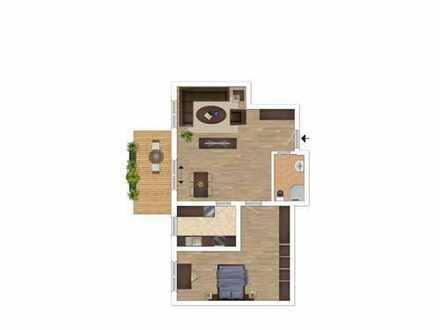 Gemütliche 2-Zimmer Souterrain-Wohnung mit Terrasse