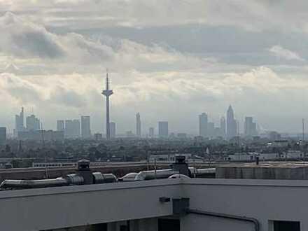 Provisionprei! Vollmöblierte Penthouse Wohnung mit Skyline Blick und riesige Dachterrasse