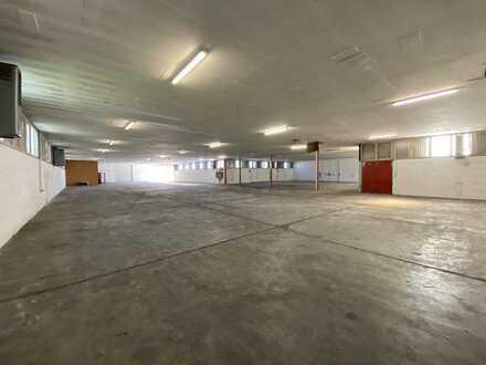 TEILBAR: 1600 m² Hallenfläche (Lager, Produktion) + 300 m² Büroflächen + 25 Parkplätze