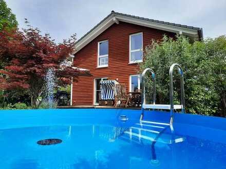 Leben wie Michel aus Lönneberga - Schwedenhaus mit Pool in Sinsheim Hilsbach