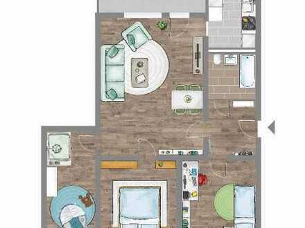 4-Raum-Wohnung mit Balkon
