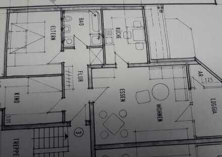 Günstige, vollständig renovierte 3-Zimmer-DG-Wohnung zur Miete in Hamminkeln
