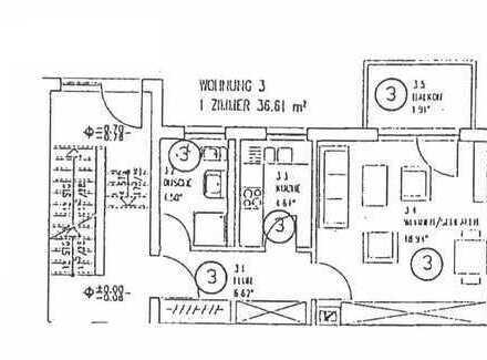 Schön wohnen zum Kleinmietpreis - 1 -Raumwohnung mit Balkon in guter Wohnlage