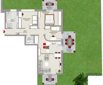 Neubauwohnung in Garching an der Alz