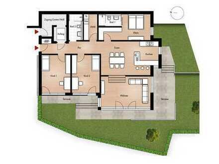 Großzügiges Wohnen auf 150 qm Wfl. mit Garten + Splitlevel im Wohnbereich