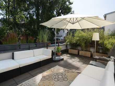 Luxuriöse neuwertige 4-Zimmer-Wohnung mit großer Terrasse im grünen Stadtjägerviertel