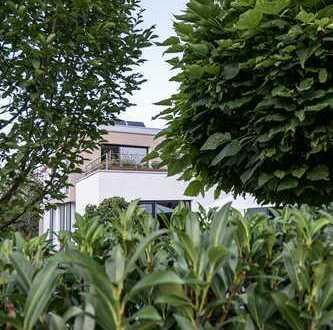 Modernes Bauhaus in solitärer Lage am Naturschutzgebiet und Mainufer