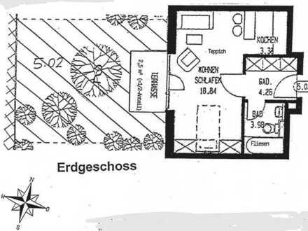 1-Zimmer Appartement mit kleinem Garten in Riezlerstraße, Ingolstadt