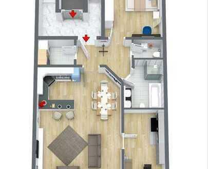 Erstbezug: stilvolle 3-Zimmer-Wohnung mit Balkon in Zentrum Möckmühl