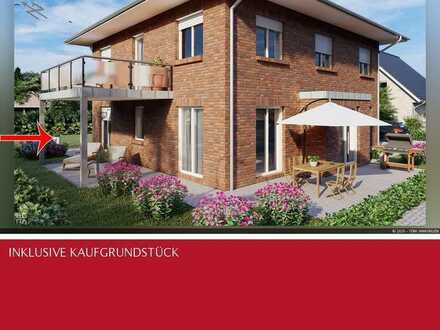 Neubau Erdgeschosswohnung mit Kaufgrundstück, Garage und alleiniger Gartennutzung in Südlohn-Oeding